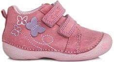 D-D-step dívčí kotníkové boty s motýlkem