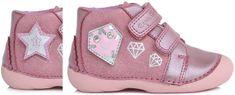 D-D-step dívčí kotníkové boty s výměnnou aplikací