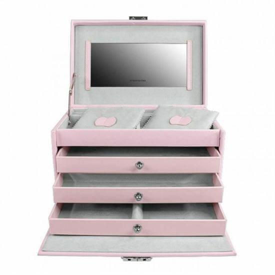 Friedrich Lederwaren Škatla za nakit roza / siva Jolie 23256-48