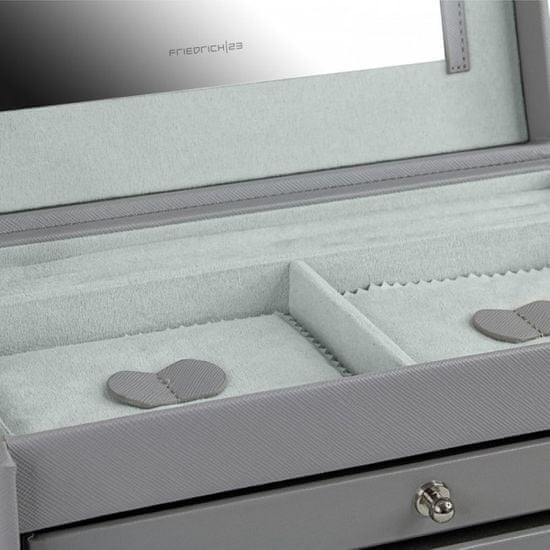 Friedrich Lederwaren Škatla za nakit svetlo siva Jolie 23256-90