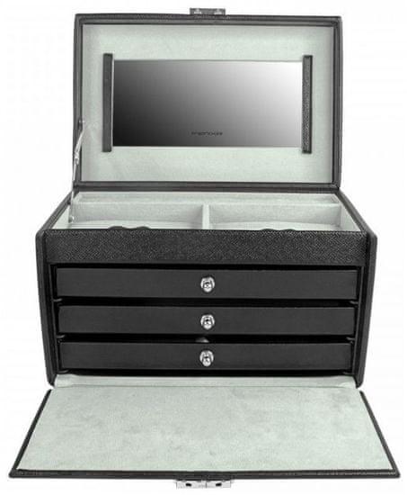 Friedrich Lederwaren Škatla za nakit črna / siva Jolie 23256-21