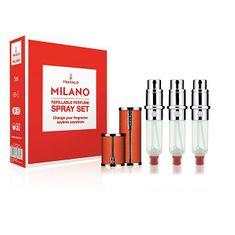 Travalo Milano - plnitelný flakon 3 x 5 ml (oranžový)