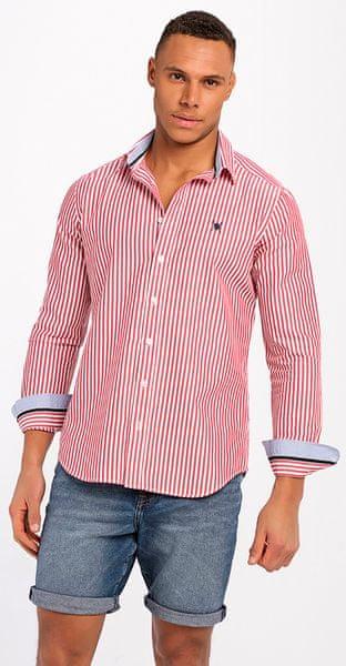 AUDEN CAVILL pánská košile M červená 7f9d46d781
