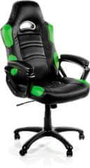 Arozzi Enzo, černá/zelená (ENZO-GN)