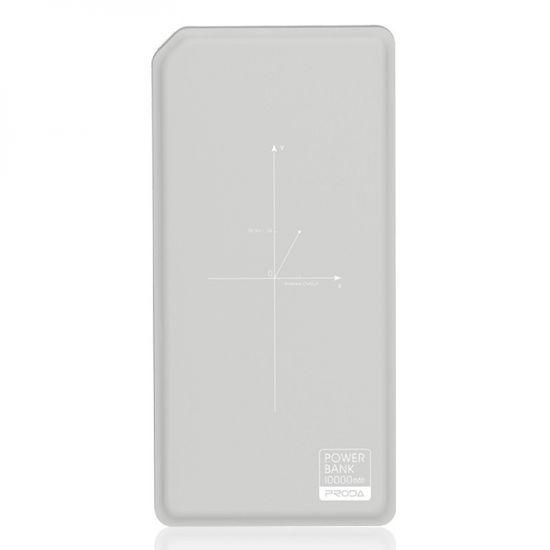 REMAX baterija powerbank 10000 mAh, zunanja, brezžično polnjenje PPP-33, sivo-bel