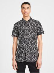 Jack&Jones černá vzorovaná slim fit košilePremium Hawaii