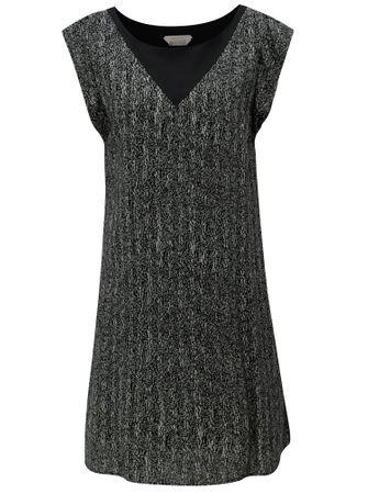 SKFK šedo-černé volné vzorované šaty Geretz XS  416df49eb4d