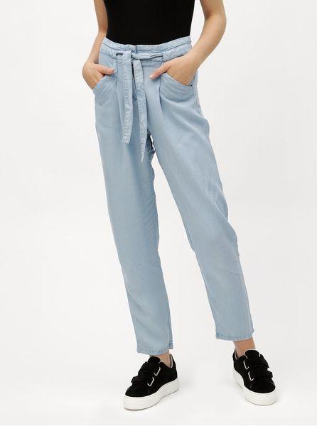 Vero Moda světle modré volné kalhoty se zavazováním Breeze L ab55f6c7af