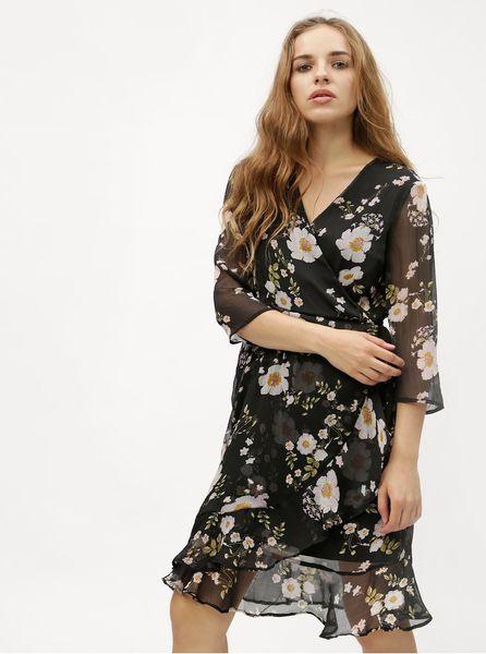a212589bb52a Vero Moda černé květované šaty Kay XS