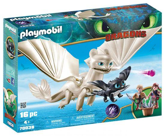 Playmobil Svetli Bes z malim zmajem in otroki, 70038