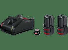 BOSCH Professional početni komplet: 2 x litij-ionska baterija 12V + brzi punjač (1600A019R8)