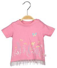 Blue Seven dívčí tričko s potiskem 62 růžová