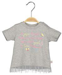 Blue Seven dívčí tričko s potiskem 56 šedá