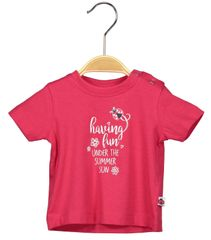 Blue Seven dívčí tričko s potiskem 56 červená