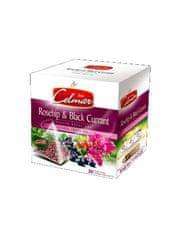 Celmar Rosehip & Black Currant, ovocný čaj, 120 ks pyramidových sáčků