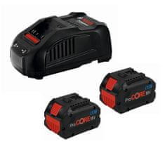BOSCH Professional komplet: 2 x litij-ionska baterija 18V + polnilnik (1600A01C4K)