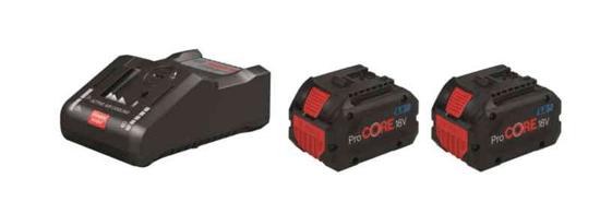 BOSCH Professional komplet: 2x litij-ionska baterija 18V + polnilnik (1600A016GP)