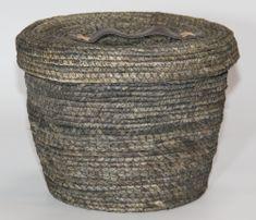 Kaemingk Kulatý koš s víkem, cca 27x22cm, šedý