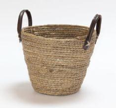 Kaemingk Okrogla košara z držali, 28x20 cm, naravna