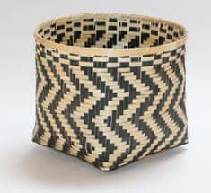Kaemingk košara Bamboo, 39x30cm, naravna/črna