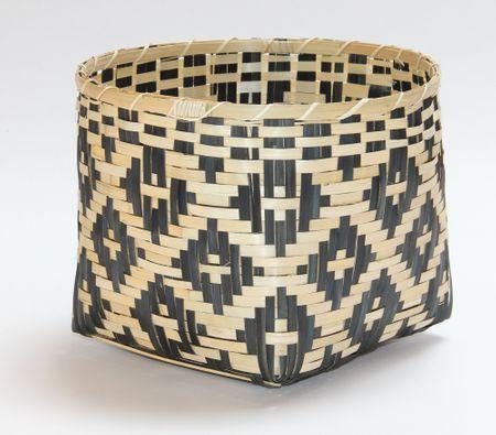 Kaemingk košara Bamboo, 34x25cm, naravna/črna
