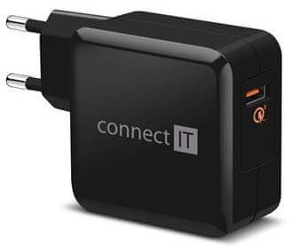 Connect IT QUICK CHARGE 3.0 nabíjecí adaptér 1× USB (3 A), QC 3.0, černý CWC-2010-BK