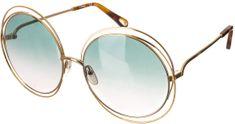 Chloé damskie okulary przeciwsłoneczne złoty