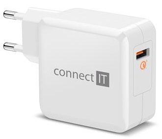 Connect IT QUICK CHARGE 3.0 nabíjecí adaptér 1× USB (3 A), QC 3.0, bílý CWC-2010-WH