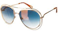 Chloé dámské zlaté sluneční brýle