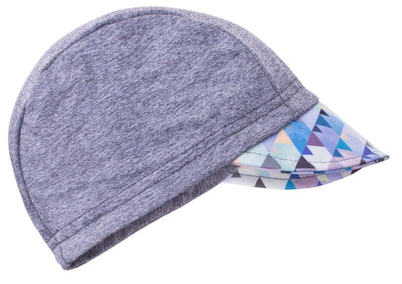 Unuo chlapecká čepice s kšiltem Mini trojúhelníčky UV 50+ 53 - 58 šedá