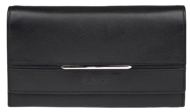 Lagen Dámská černá kožená peněženka Black 9530