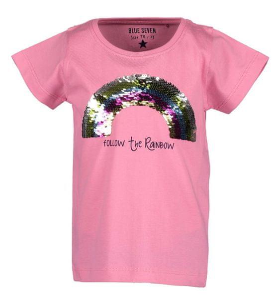 b5a5051725 Blue Seven dívčí tričko s flitry 104 růžová