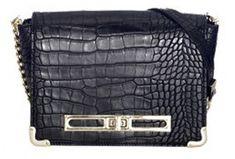 Juno fekete keresztpántos táska
