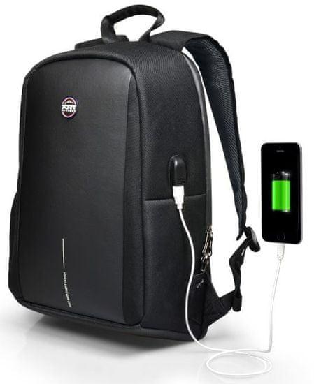 Port Designs nahrbtnik proti kraji CHICAGO EVO 15,6″ (39,6 cm) notebook in 10,1″ (25,6 cm) tablični računalnik, 400508, črna