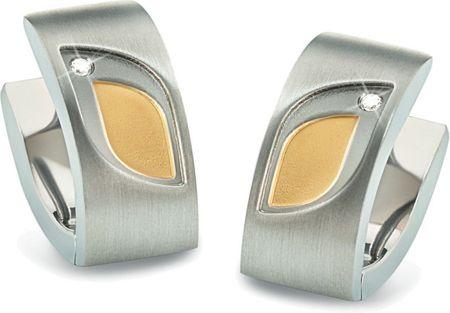 Boccia Titanium Bicolor titánové náušnice s briliantmi 05009-03