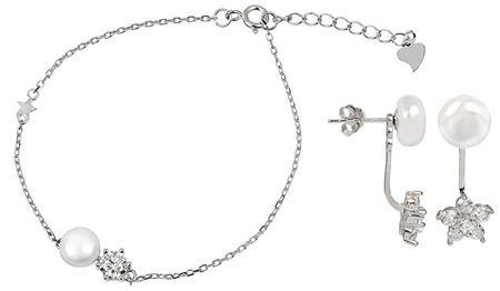 Zvýhodnená perlová súprava šperkov JL0281 a JL0315 striebro 925/1000