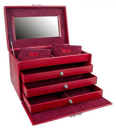 Friedrich Lederwaren Šperkovnica červená Jolie 23257-40