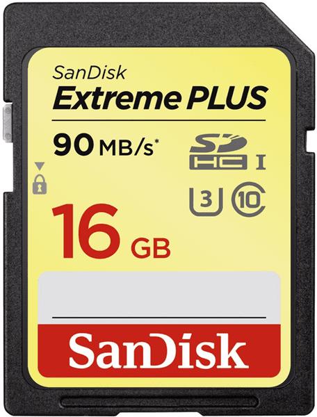 SanDisk Extreme Plus SDHC 16GB Class 10 UHS-I (SDSDXSF-016G-GNCIN)