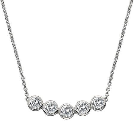 Hot Diamonds Nežný strieborný náhrdelník s topaz a pravým diamantom Willow DN129 striebro 925/1000
