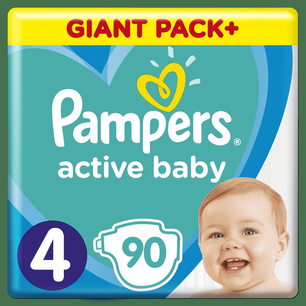 Pampers Pleny Active Baby 4 Maxi (9-14 kg) Giant Box 90 ks