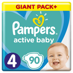 Pampers Pleny Active Baby 4 Maxi (7-14kg) Giant Box - 90ks