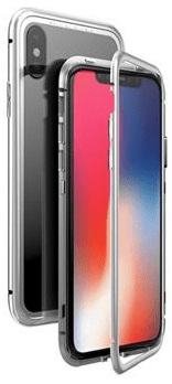 Luphie CASE Luphie Magneto Hard Case Glass Silver/Crystal pro iPhone X 2441687