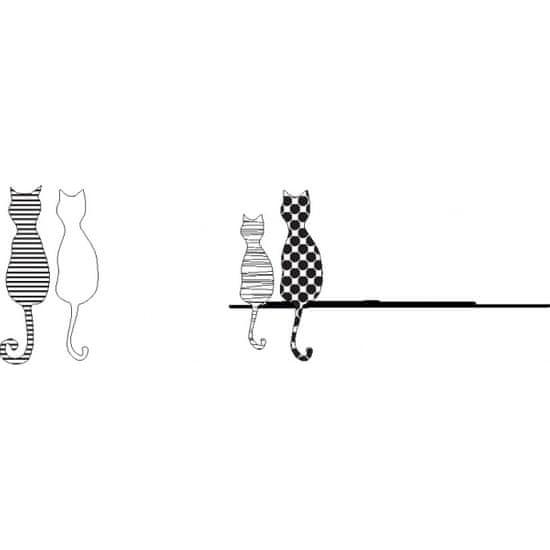 Doppler Damski zložljiv avtomatski dežnik Čarobne mačke (Fiber Magic Cats) GFFRDN