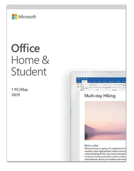 Microsoft Office Home & Student 2019, FPP, angleški