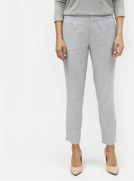 Oliver modré dámské lněné slim fit chino kalhoty L 1ca6e4b9fa