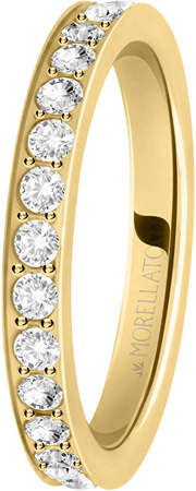 Morellato Aranyozott gyűrű Love Rings SNA39 kristályokkal (áramkör 54 mm-es)