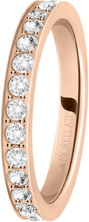 Morellato Bronz gyűrű szerelmes gyűrűkkel SNA40 kristályok (áramkör 52 mm)