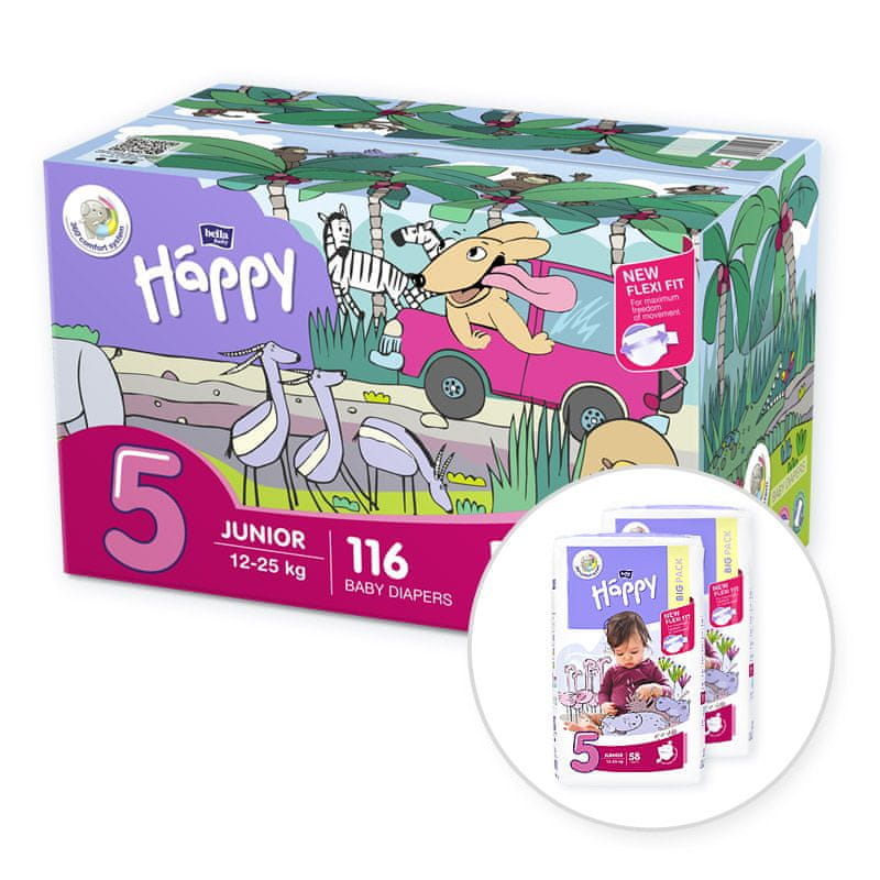 Bella Happy 5 Junior Box (12-25 kg) 116 ks