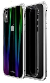 Luphie CASE Aurora Snaps Magnetic Aluminium Hard Case Glass Silver/White pro iPhone XS Max 2442698