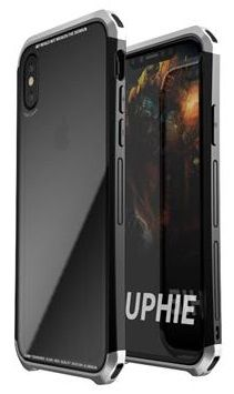 Luphie CASE Double Dragon Aluminium Hard Case Black/Silver pro iPhone X 2441727